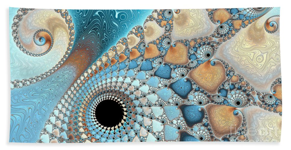 Background Bath Sheet featuring the photograph Sea And Sand by Heidi Smith