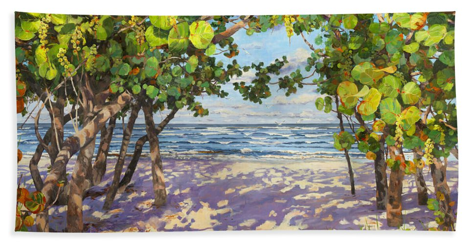 Sea Grapes Bath Sheet featuring the painting Sea Grape Delight by Carol McArdle