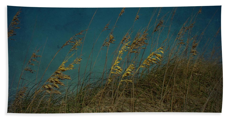 Sea Oats Hand Towel featuring the photograph Sea Oats And Storms by Mother Nature