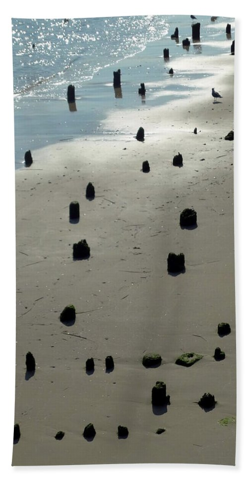 Sea Hand Towel featuring the photograph Sea Piles by Deborah Crew-Johnson