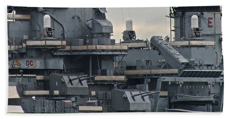 Gun Bath Towel featuring the photograph Sea Power by Rick Monyahan