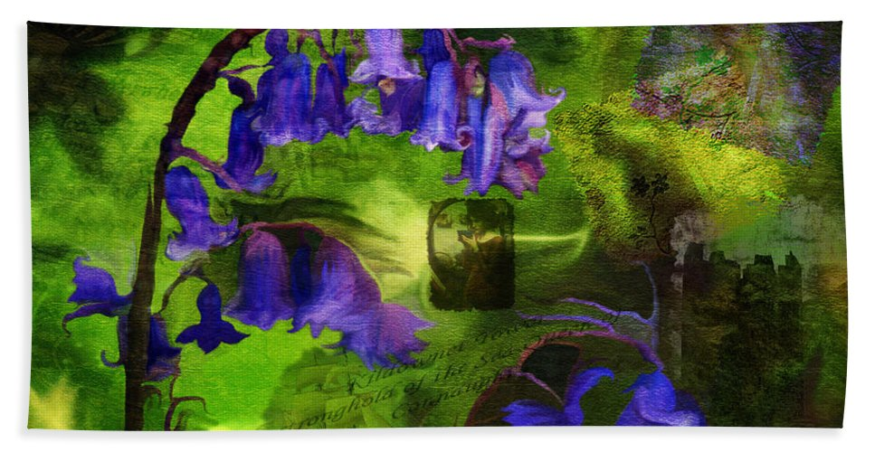 Fine Art Hand Towel featuring the digital art Sea Queen of Connaught- mixed media photo composite- collage by Patricia Griffin Brett