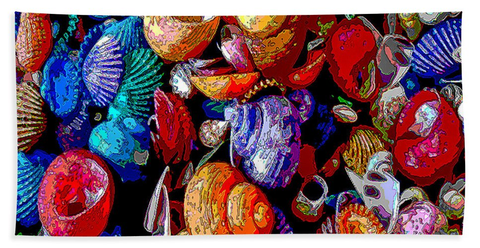 Sea Shell Hand Towel featuring the photograph Sea Shell Abstract by Jennifer Stackpole