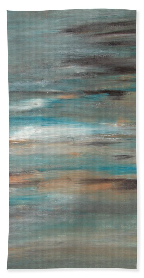 Seashore Bath Sheet featuring the painting Seashore by Alina Cristina Frent