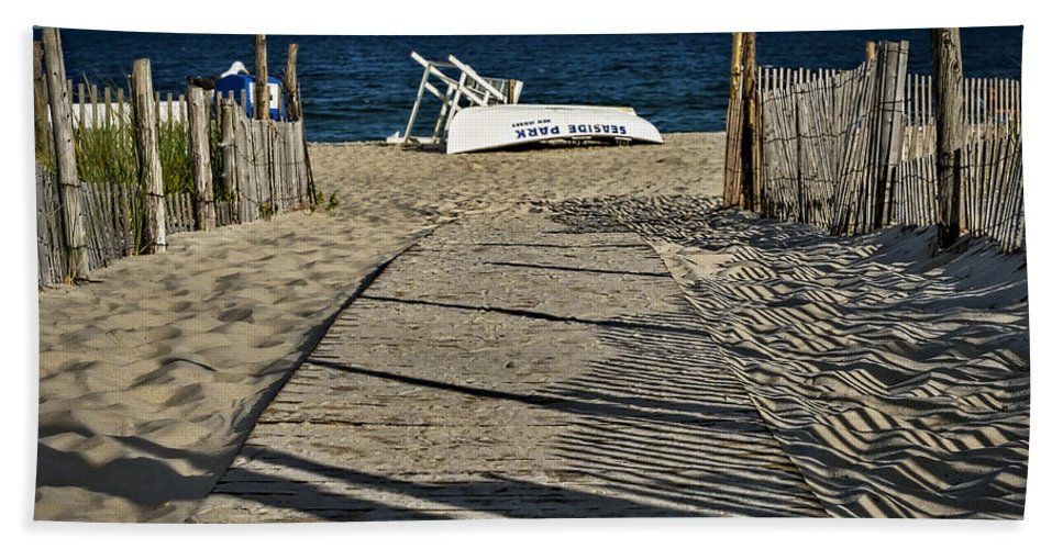 Jersey Shore Bath Sheet featuring the photograph Seaside Park New Jersey Shore by Susan Candelario