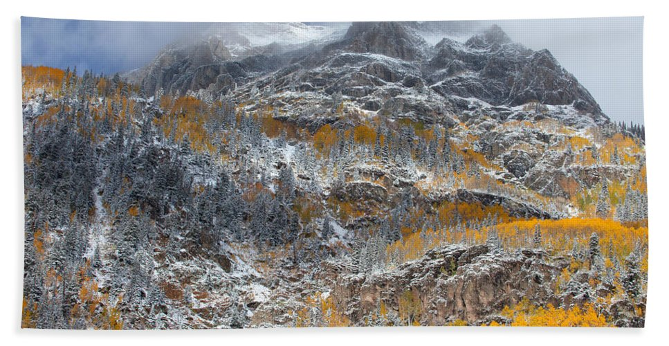 Colorado Landscapes Bath Sheet featuring the photograph Seasonal Chaos by Darren White