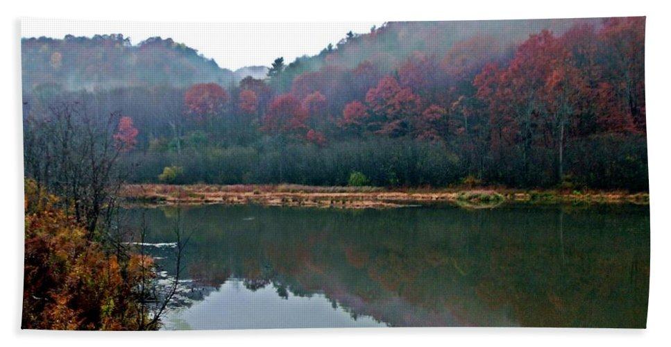 Upstate Ny Bath Sheet featuring the photograph Seasons Hush by Christian Mattison