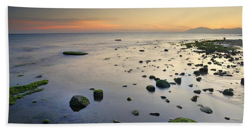 Water Bath Sheet featuring the photograph Seasunset Dreams by Guido Montanes Castillo