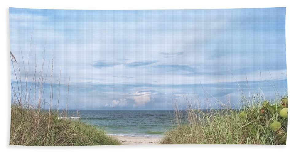 Beach Photography Bath Sheet featuring the photograph Sebastian Inlet by Louise Hill
