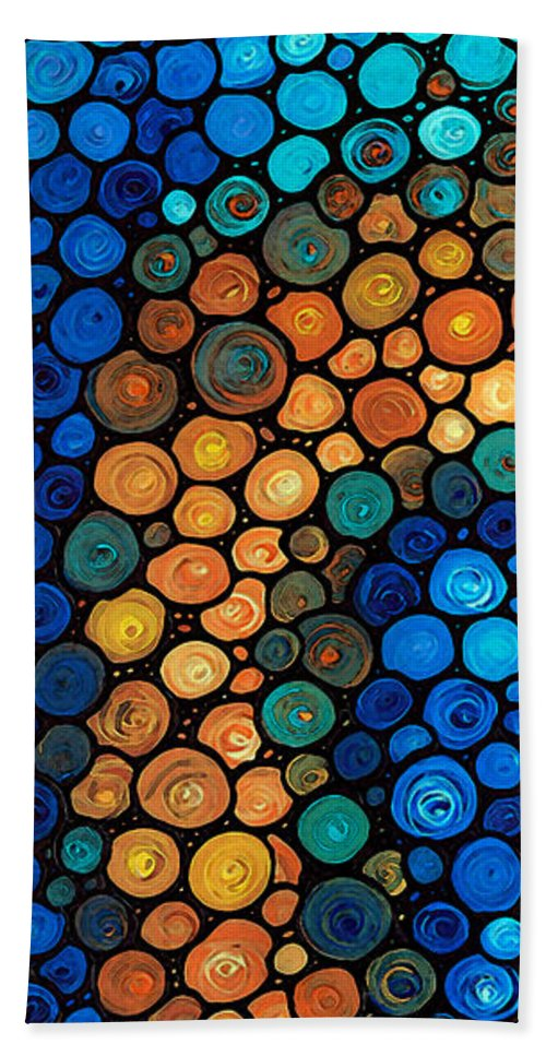 Health Bath Sheet featuring the painting Second Chances - Abstract Art By Sharon Cummings by Sharon Cummings