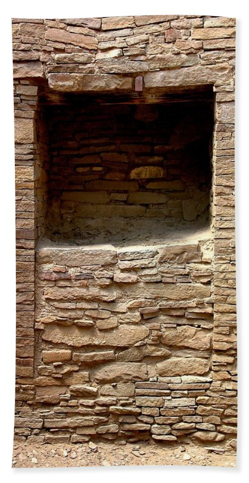 Chaco Canyon Bath Sheet featuring the photograph Second Thoughts by Joe Kozlowski