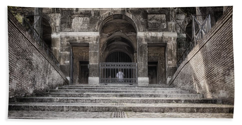 Ancient Hand Towel featuring the photograph Second Time Around The Forum by Joan Carroll