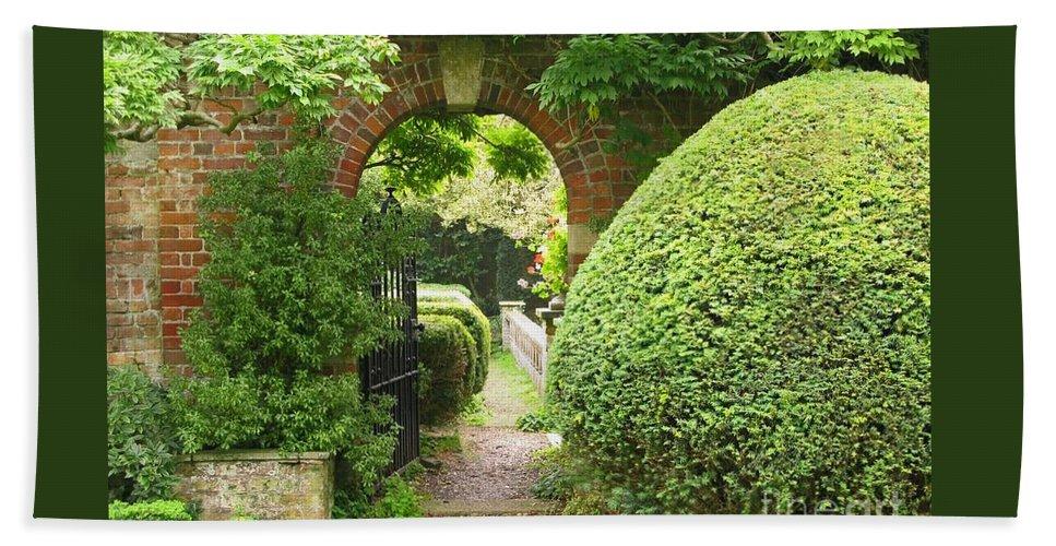 Garden Bath Towel featuring the photograph Secret English Garden by Ann Horn