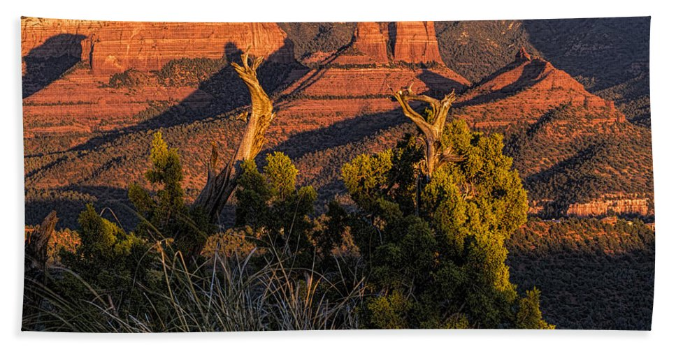 Sedona Bath Sheet featuring the photograph Sedona by Mike Herdering