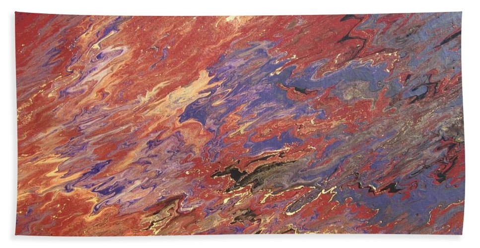 Fusionart Hand Towel featuring the painting Sedona by Ralph White