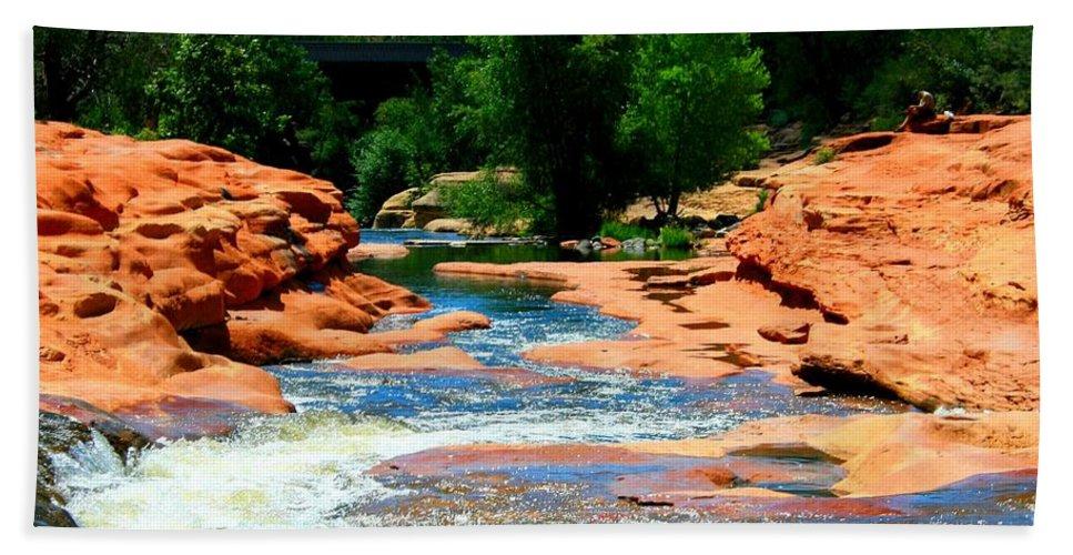 Arizona Bath Sheet featuring the photograph Sedona Salvation by Miles Stites