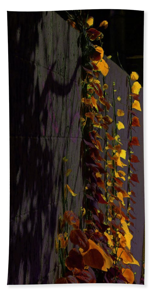 Abstract Hand Towel featuring the photograph Seen In A Different Light by Steve Taylor