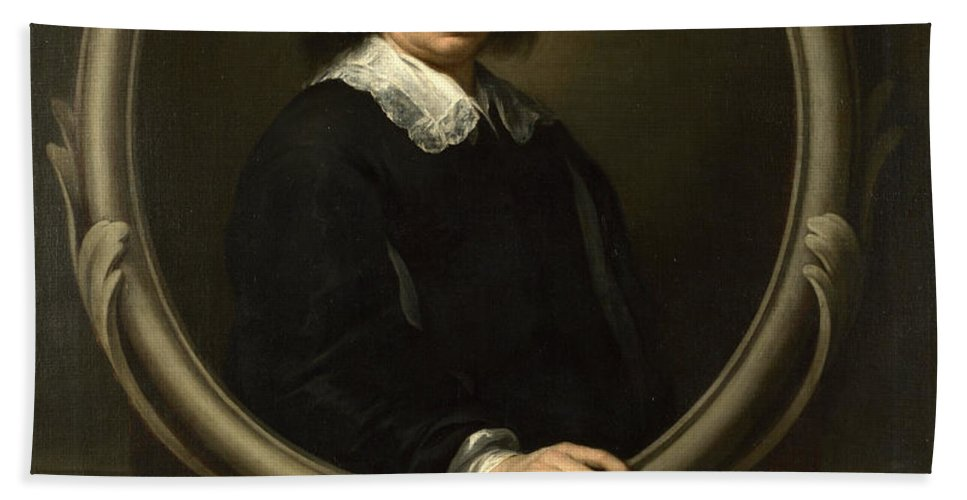Bartolome Esteban Murillo Hand Towel featuring the painting Self Portrait by Bartolome Esteban Murillo
