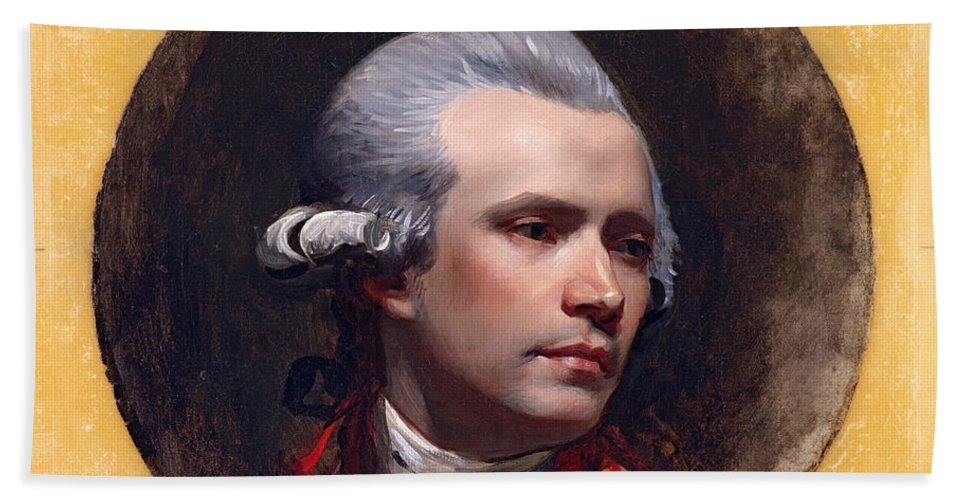 John Singleton Copley Hand Towel featuring the painting Self-portrait by John Singleton Copley
