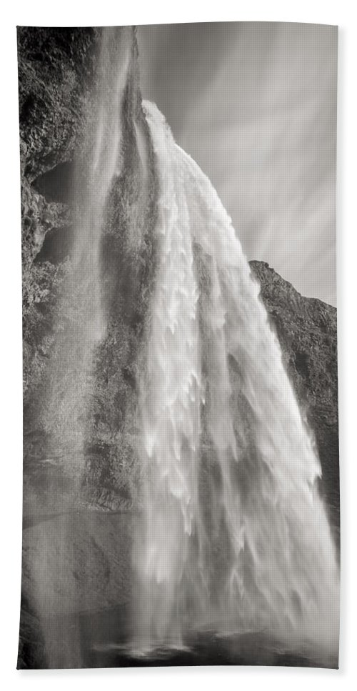 Iceland Bath Sheet featuring the photograph Seljalandsfoss Waterfall In Iceland by For Ninety One Days