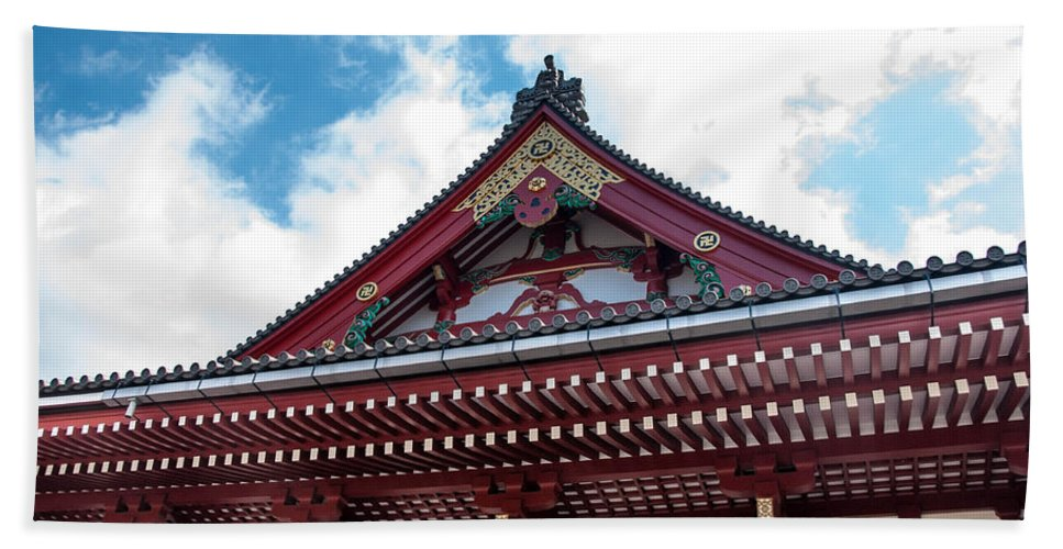 Asakusa District Hand Towel featuring the photograph Sensoji Temple by Guy Whiteley