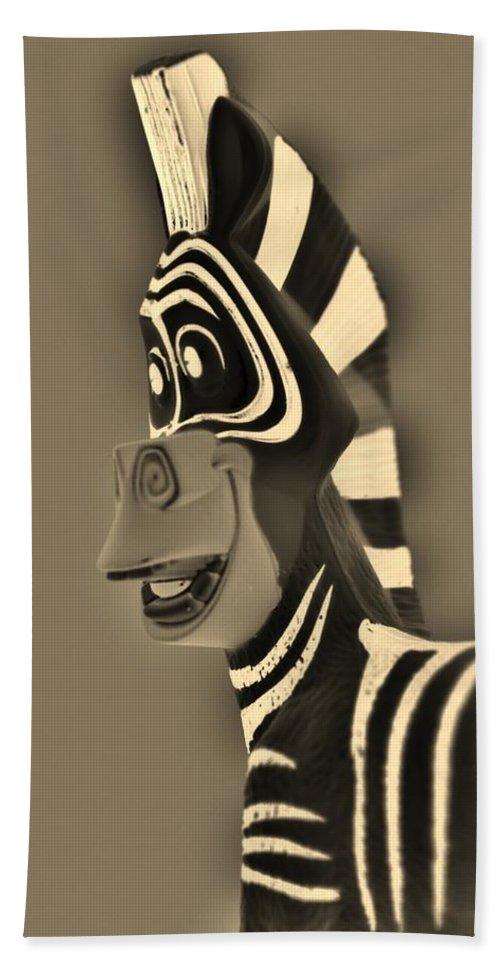 Zebra Bath Sheet featuring the photograph Sepia Zebra by Rob Hans