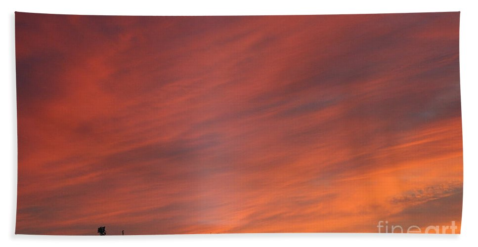 Sunset Bath Sheet featuring the photograph September Sunsets by Susan Herber
