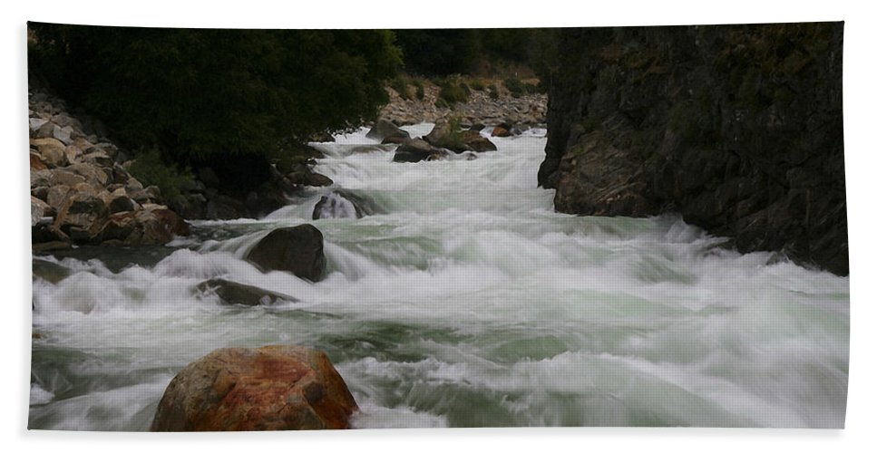 Sequoia Hand Towel featuring the photograph Sequoia Stream by Ingrid Smith-Johnsen