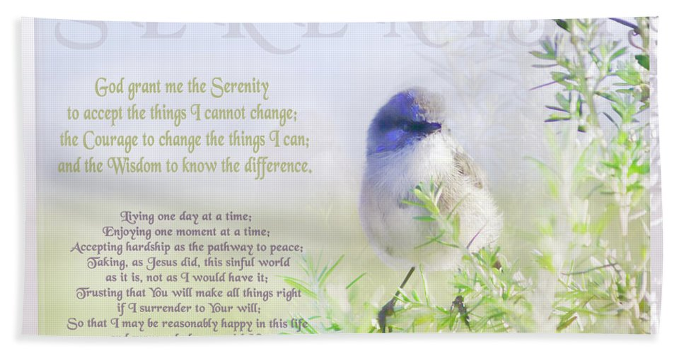 Animals Bath Towel featuring the photograph Serenity Prayer by Holly Kempe