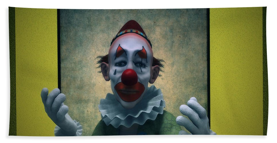 Clown Hand Towel featuring the digital art Serious Discourse by Ramon Martinez