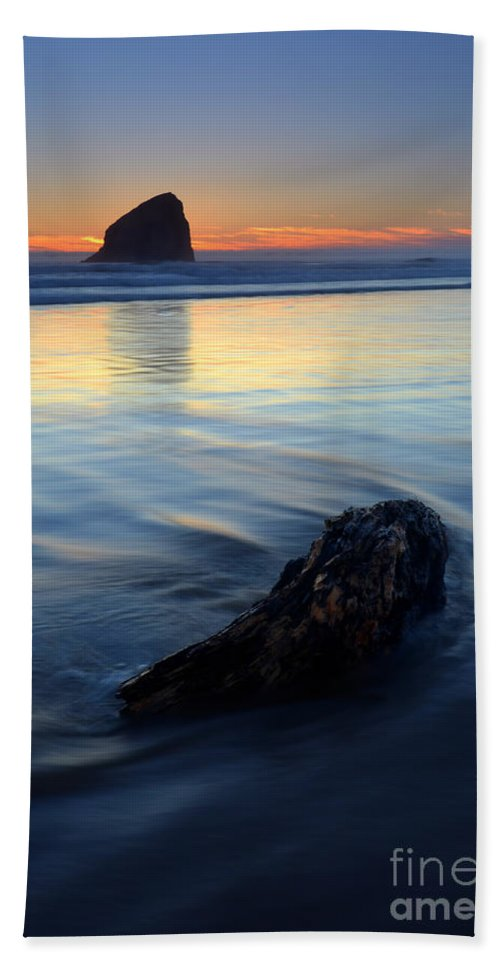 Pacific City Hand Towel featuring the photograph Set In Sand by Mike Dawson