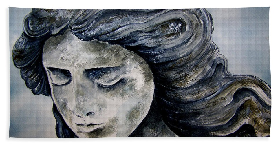 Stone Hand Towel featuring the painting Set In Stone by Brenda Owen