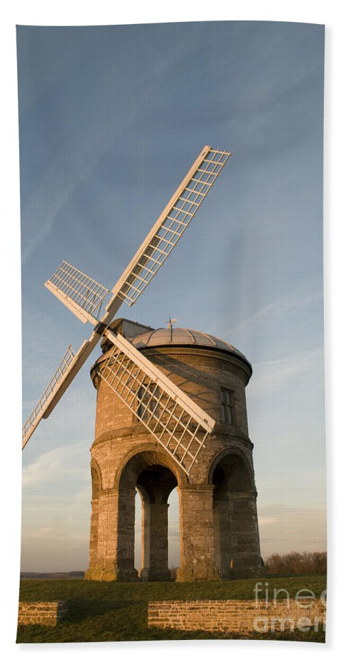 17th Hand Towel featuring the photograph Seventeenth Century Mill by Anne Gilbert