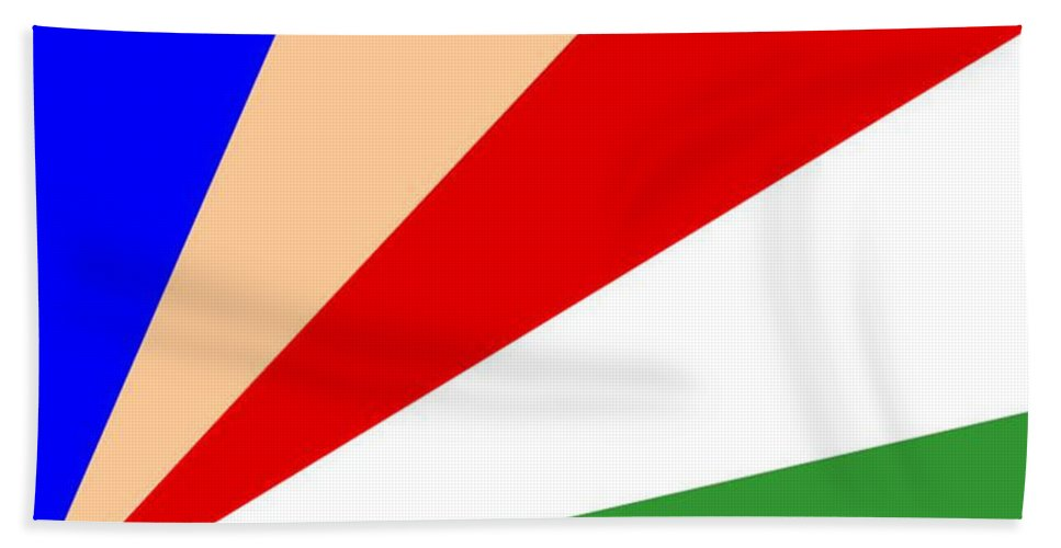 Seychelles Hand Towel featuring the digital art Seychelles Flag by Frederick Holiday