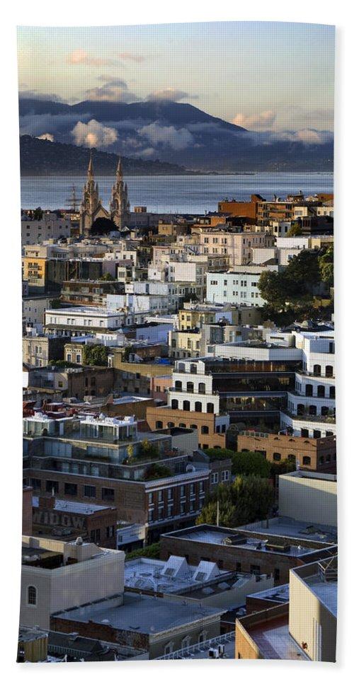 San Francisco Bath Sheet featuring the photograph Sf View by Joseph Yvon Cote