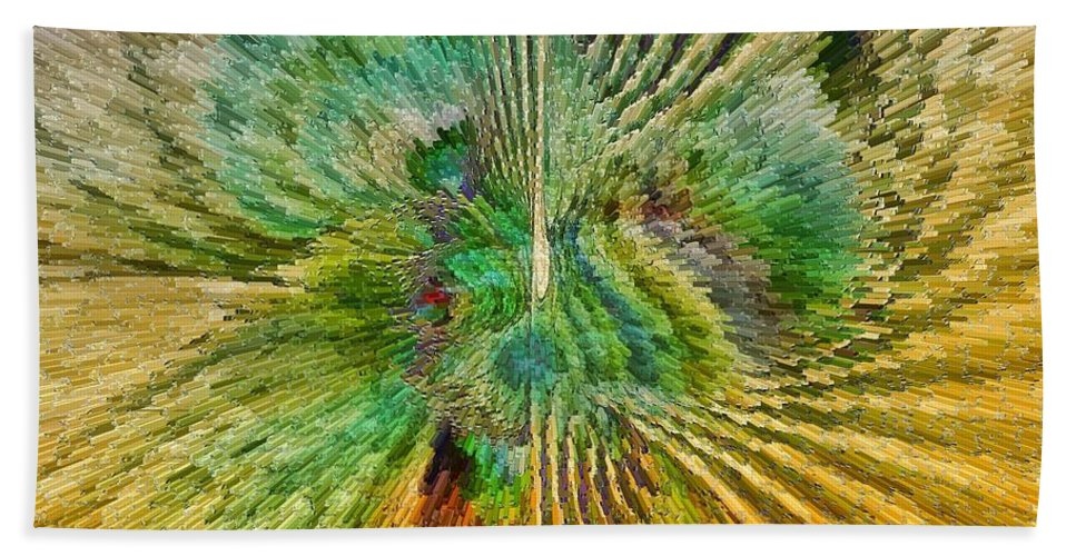 Fractal Bath Sheet featuring the digital art Shades Of Green by Deborah Benoit