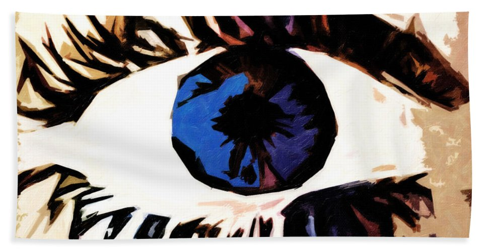 Eye Hand Towel featuring the digital art Shades Of Mary by Terry Fiala