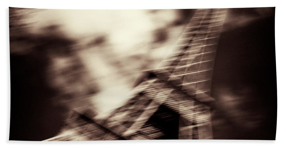 Eiffel Tower Hand Towel featuring the photograph Shades Of Paris by Dave Bowman