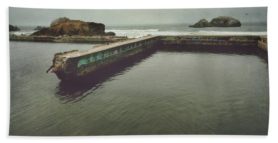 Sutro Baths Hand Towel featuring the photograph Shades Of What Used To Be by Laurie Search