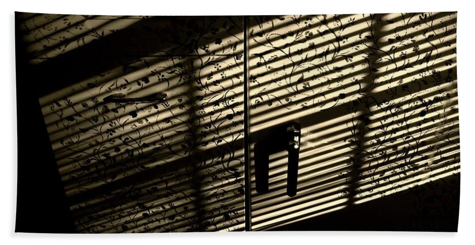 Shadow Bath Sheet featuring the photograph Shadow Patterns by Chris Berry
