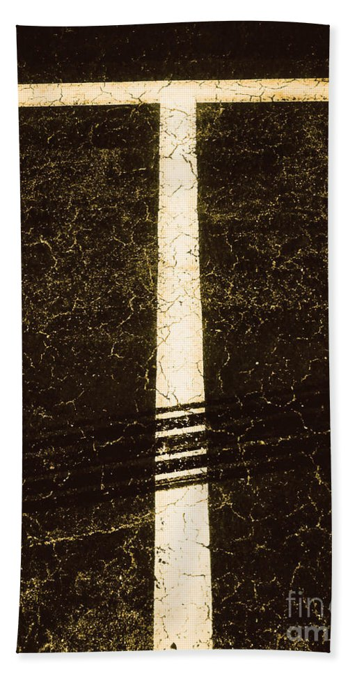 Abstract Hand Towel featuring the photograph Shape No.35 Brownish Version by Fei A