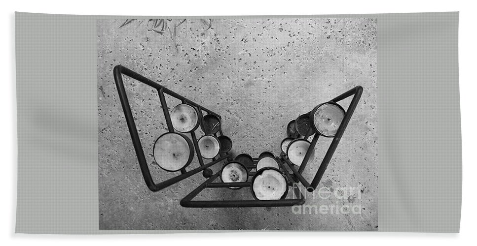 Black And White Photography Bath Sheet featuring the photograph Shaped Openness 1 by Fei A