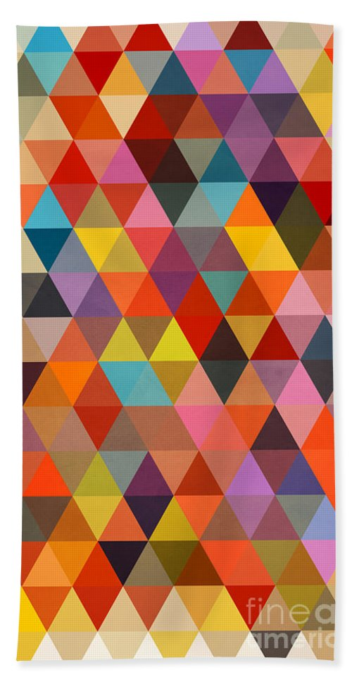 Contemporary Bath Towel featuring the painting Shapes by Mark Ashkenazi