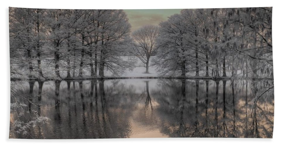 Grey Summit Bath Towel featuring the photograph Shaw Nature Reserve by Jane Linders