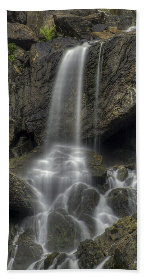 Waterfalls Hand Towel featuring the photograph Sheer Beauty by Bill Sherrell