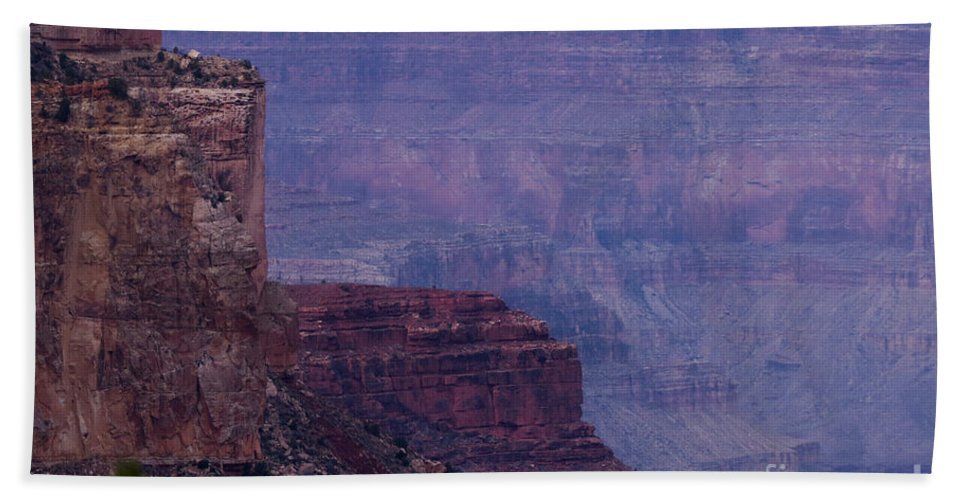 Nature Hand Towel featuring the photograph Sheer Cliff by Mary Mikawoz