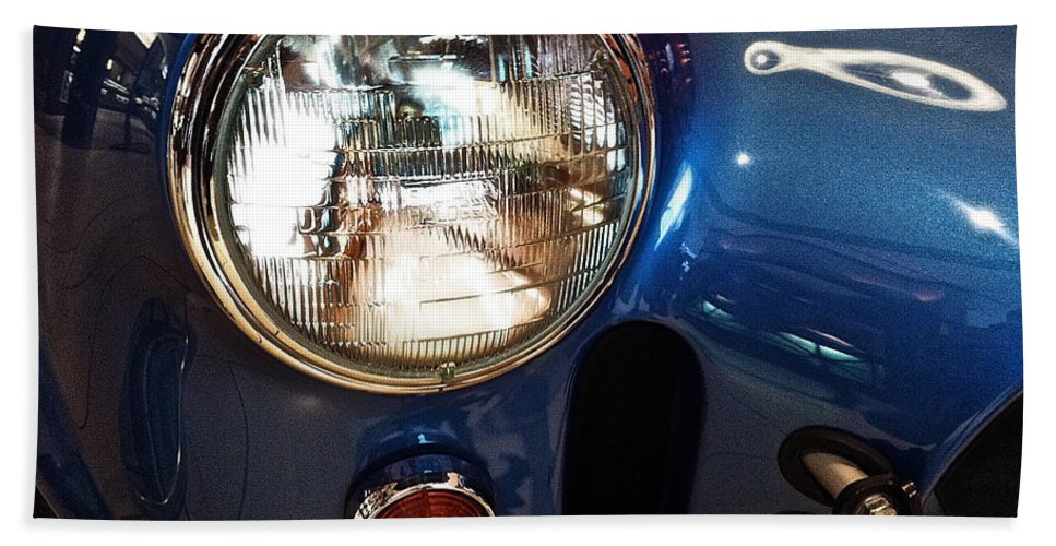 Shelby Cobra Circa 1965 Hand Towel featuring the photograph Shelby Cobra Circa 1965 by Bill Owen