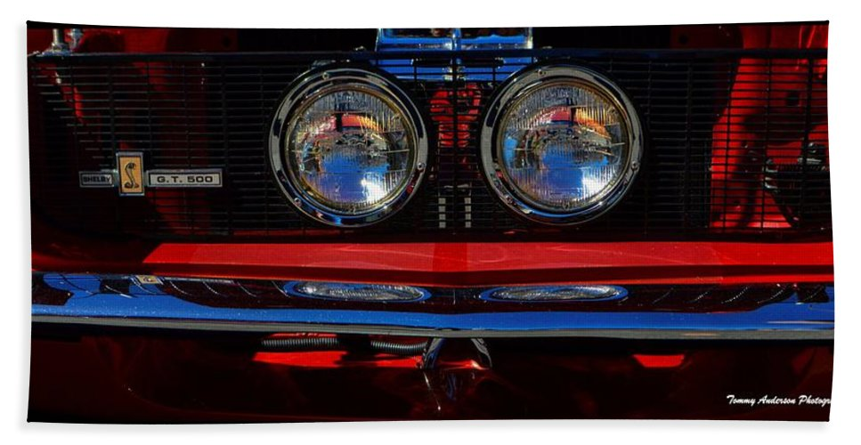 Ford Hand Towel featuring the photograph Shelby Gt 500 Mustang 2 by Tommy Anderson