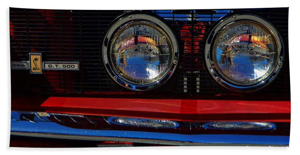 Ford Hand Towel featuring the photograph Shelby Gt 500 Mustang 3 by Tommy Anderson