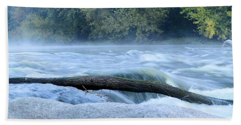 Rapids Hand Towel featuring the photograph Shell Rock Rapids Two by Bonfire Photography